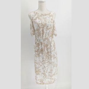 Bailey 44 Cold Shoulder Blouson Midi Floral Dress
